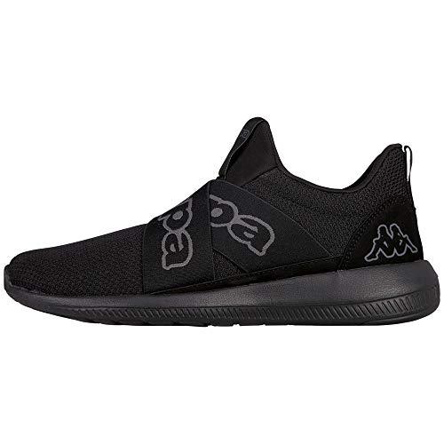 Kappa Unisex-Erwachsene Faster II Sneaker, Schwarz (1111 Black), 42 EU