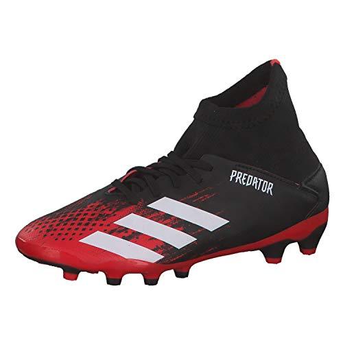 Adidas Predator 20.3 MG J, Zapatillas Deportivas Fútbol Unisex Infantil, Multicolor (Core Black/FTWR White/Active Red), 38 EU