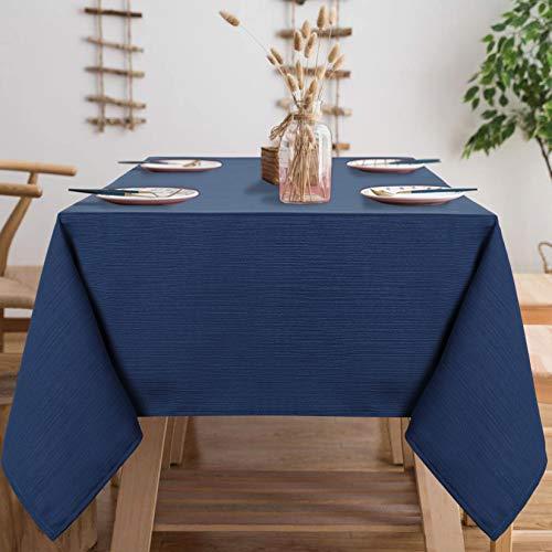 Lintimes Mantel Azul Marino Paño de decoración de Mesa de té Impermeable Mantel de poliéster, 140 cm x 275 cm Rectángulo