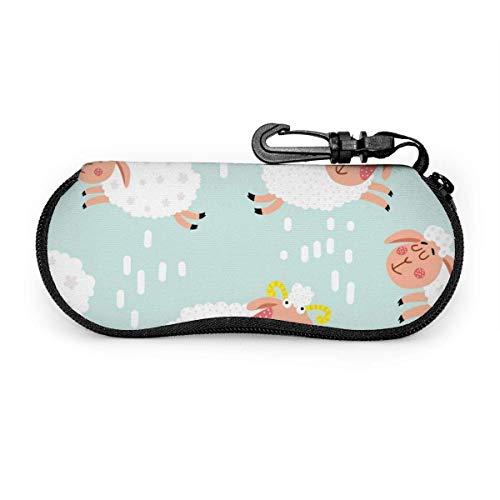 Epaynetwork Fundas de Gafas Space Bouquet Vector Cinturón de neopreno impermeable con cremallera, gafas de seguridad, mosquetón, gafas de sol portátiles, bolso suave