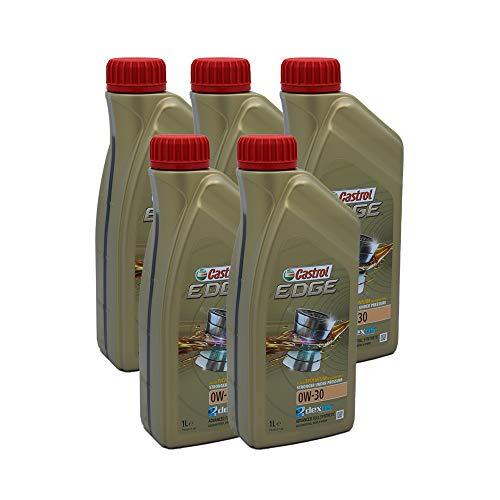 LUBRIALPHA Castrol Edge 0W 30 Olio Motore per Auto Sintetico Confezione da 5 Litri