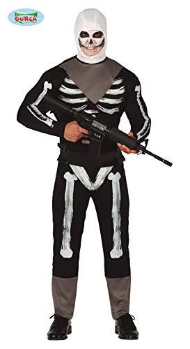 Fiestas Guirca Kostuum soldaat huid miliet video games man schedel