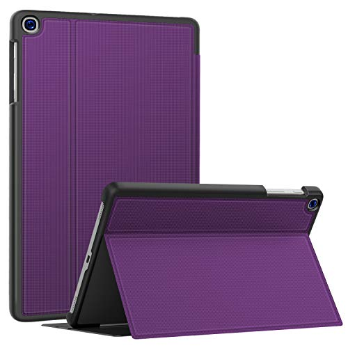 Soke Galaxy Tab A 10.1 Case 2019, Premium Shock Proof Stand Folio Case,Multi- Viewing Angles, Soft TPU Back Cover for Samsung Galaxy Tab A 10.1 inch Tablet [SM-T510/T515/T517],Purple