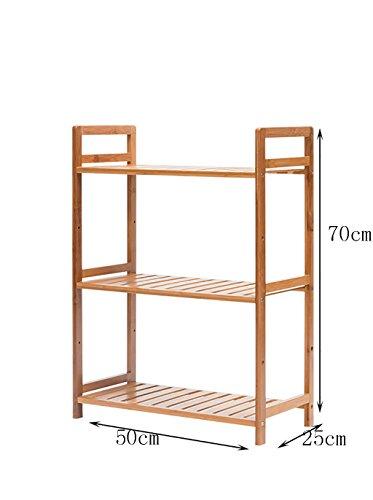 Étagères en bambou salon salle à manger cadre de rangement porte-chaussures simple boite de rangement en bois massif ( Couleur : A , taille : 50 cm )