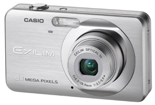 Casio EXILIM EX-Z80 SR Digitalkamera (8 Megapixel, 3-fach opt. Zoom, 2,6