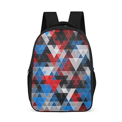 Fineiwillgo Mochila con estampado geométrico abstracto triangular, bolsa de libros vintage para adolescentes, excursión, gris brillante, talla única