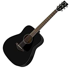 Solid Spruce Top Nato/Okume Back and Sides for a rich, warm sound Newly developed scalloped bracing for stronger sound! Traditional Western Dreadnought Body Exclusive black finish!