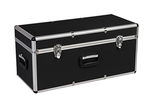 Transportkoffer mit Aluminiumrahmen und schwarzem ABS Korpus - ölbeständig und schlagfest - in verschiedenen Größen (mittel)