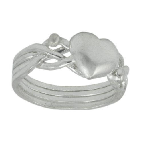 WithLoveSilver Solid Sterling Silver 925 Celtic Puzzle Heart Ring (Sizes: 4, 5, 6, 7, 8, 9, 10, 11, 12) (8)