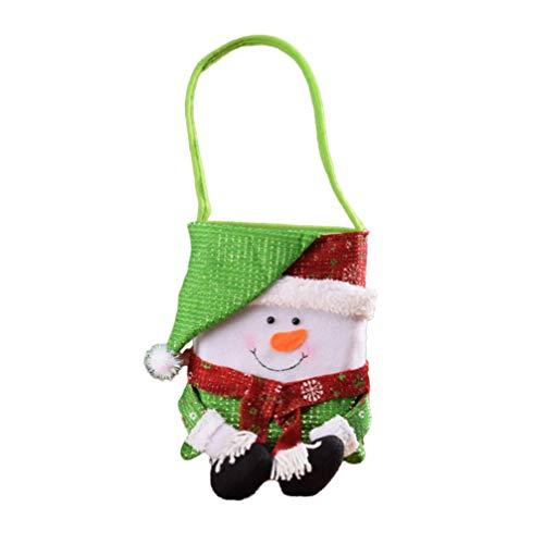 Wakauto Bolsa de Dulces Navideños Bolso de Mano Bolsas de Manzana Bolsa de Regalo Portátil Bolsa de Chocolate para Alimentos Regalos Canasta para Celebrar Colgante de Árbol de Navidad
