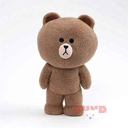 "GUND LINE Friends Brown Standing Plush Stuffed Animal Bear, Brown, 14"", 8.3"" L x 13.1"" W x 6.1"" H"