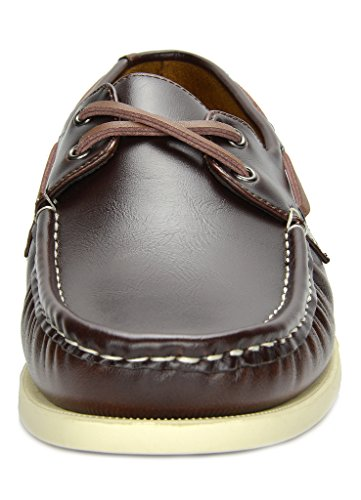 Bruno Marc Men's Bahama Brown Loafers Boat Shoes – 7 M US