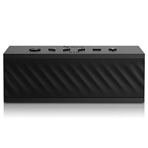 HUSSAR Bluetooth Speakers, 16W Portable Wireless Speaker, Premium Sound with Enhanced Bass and Selectable Sound Effects, IPX5 Waterproof, Built-in Mic with Siri, Black