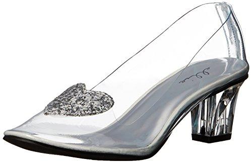 Ellie Shoes Women's 212-ariel Slide Pump, Clear, 9 M US
