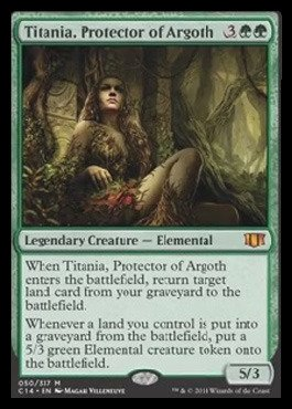 Magic: the Gathering - Titania, Protector of Argoth (050/337) - Commander 2014 by Magic: the Gathering