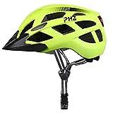 Casco de bicicleta PHZING CE certificado, ajustable, para adultos con visor desmontable, para bicicleta, de carretera o BMX, color verde, tamaño M-(21.5-22.4 in)