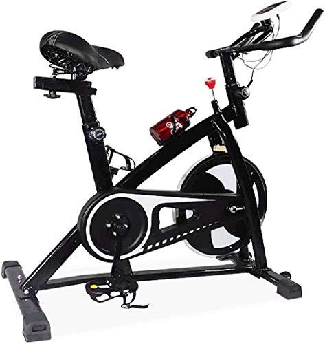 WGFGXQ Bicicleta estática Monitor LCD de Bicicleta de Interior estacionaria para Entrenamiento en casa con cómodo cojín de Asiento Freno electromagnético