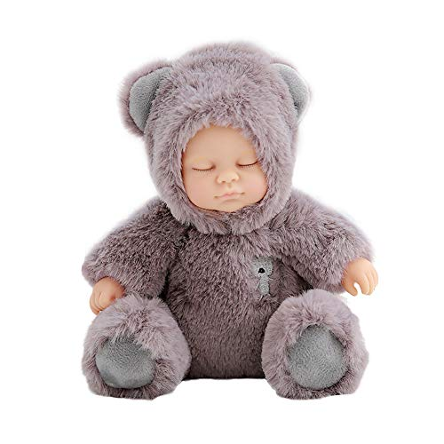 1pc Baby Doll Toys Life-like Baby Sleep Doll Cute Bear Comforting Plush...