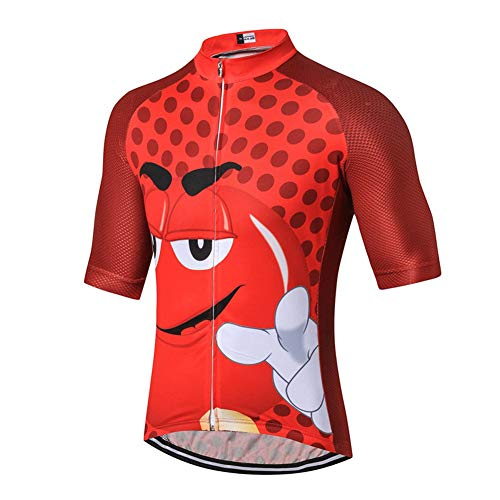 Herren-Bike-Trikot mit Space Printing, schnell trocknenden Anti-Schweiß-Kurzarm-Fahrradhemden Summer Mountain Road Biking-Trikots