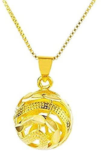 banbeitaotao Vintage Dubai Gold Cutout Lantern Colgante Colgante de Bola Redonda Collares para Mujer Accesorios (sin Cadena)
