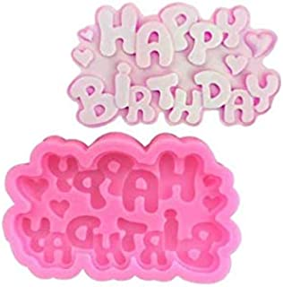 S.Han Silicone Happy Birthday Fondant Mould Gumpaste Cake Decorating Tool Baking bakeware