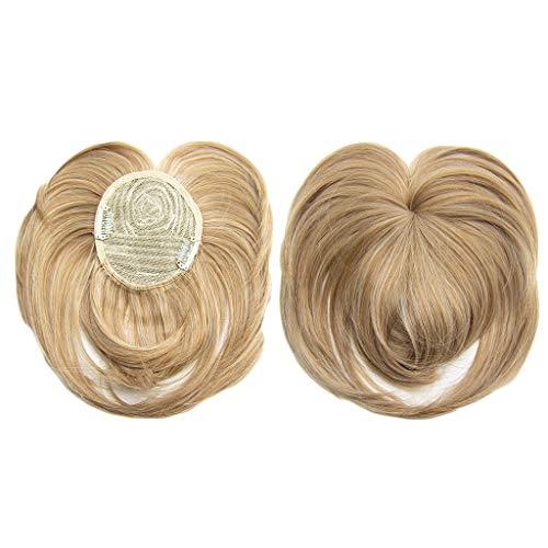 LANJIA Damen Wigs Premium Synthetic Wigs Frauen Seidige Clip-On Hair Topper Perücke Hitzebeständige Faser Perücke Mode Haar Perücke