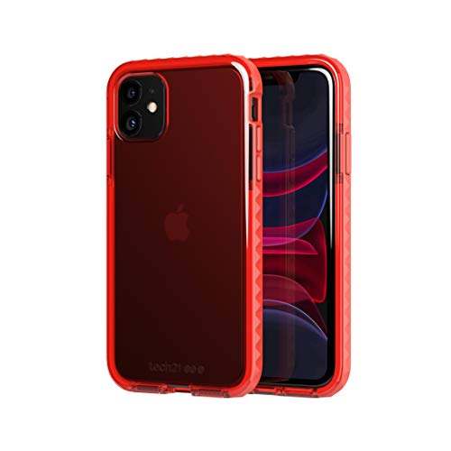 tech21 Evo Rox Phone Case for Apple iPhone 11 with 12 ft. Drop Protection, Atomic Orange