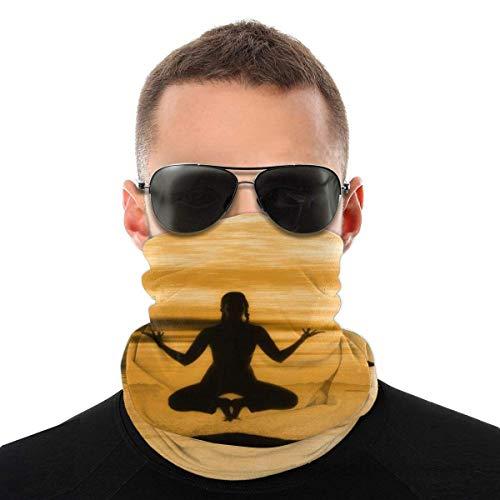 Nother Meditación budismo espiritual Chakra Headwear bufanda cortavientos máscara facial lavable antipolvo, pasamontañas, bandana doble impresión