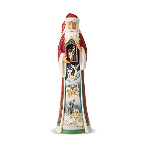 Heartwood Creek 6006634 Figurina Babbo Natale con Capana e Natività