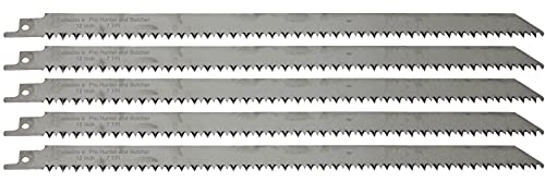 12-Inch Stainless Steel Frozen Meat Bone Cutting Saw Blades for Reciprocating and Sawzall Saws 5-Pack