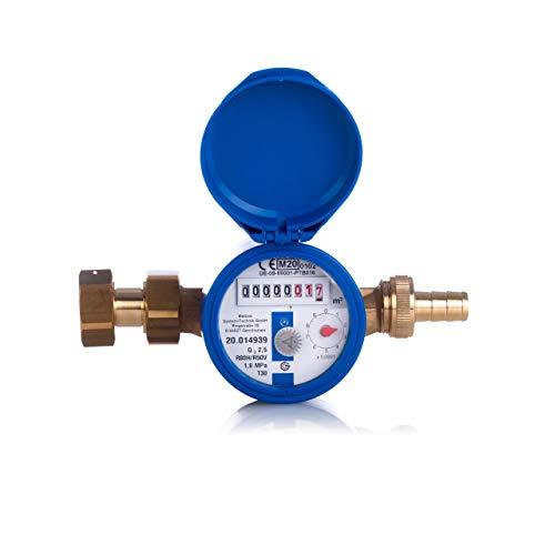 Garten-Wasserzähler-Anschlussset Aufputz für Kaltwasser, Q3 2,5 m³, Baulänge 110 mm
