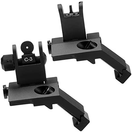 SOUFORCE Aluminum Flip Spring new work one after another Up Iron Sights and Front Japan's largest assortment Set Rear