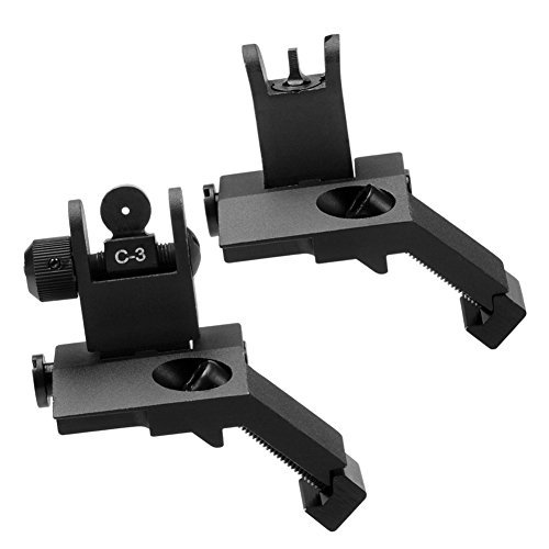 SOUFORCE 45 Degree Offset Backup Iron Sights, Front and Rear Canted...