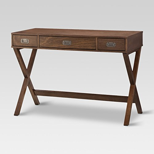 Campaign Wood Writing Desk with Drawers Brown - Threshold™