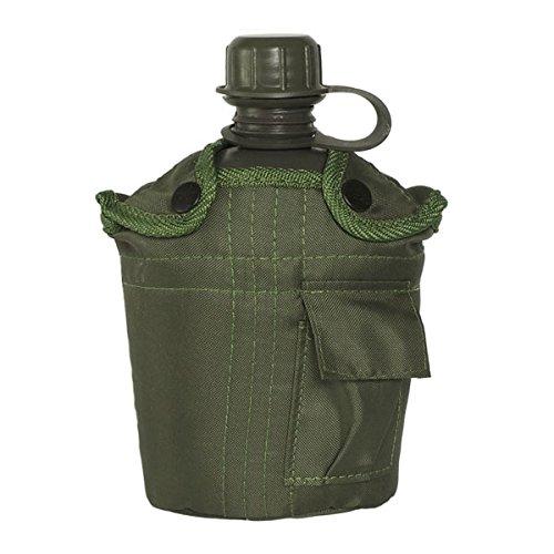 Copytec Feldflasche US Army 1 Liter Oliv grün Wasserflasche Camping Survival Bear Outdoor Bundeswehr Notfall Überleben Trinken Wasser Verpflegung Zelten Militär #18719