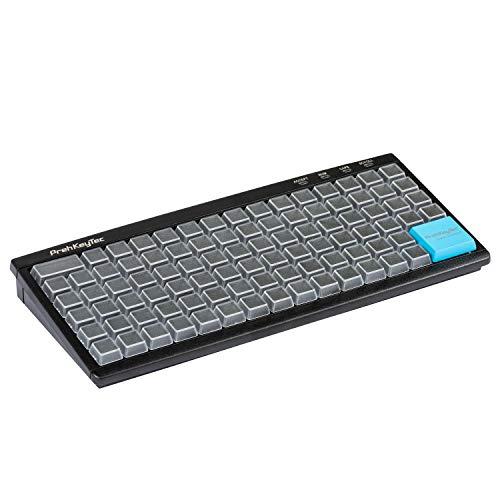 PrehKeyTec Programmeerbaar toetsenbord MCI 96 - Kleur zwart - Numerieke toetsenmatrix zonder verdere opties - USB - Eenvoudige toetsen met transparante kappen om zelf te beschrijven
