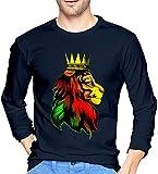 Ljkhas2329 Royal Reggae Rasta Lion. Men's Long Sleeve T-Shirts,Long Sleeve T-Shirts for Men's XXL