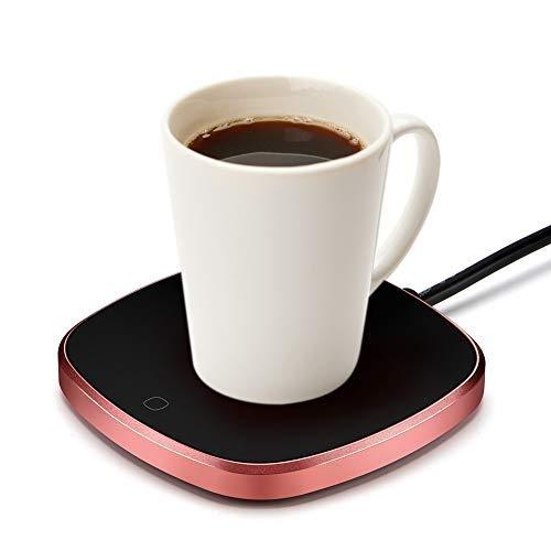 Haofy Tassenwärmer Kaffeetassenwärmer Getränkewärmer mit Elektrischer Heizplatte, 220V/15W Elektrische Tassenwärmer Pad für Büro Home Desk Verwendung, Kaffee Liebhaber (Bis zu 131F/55C) EU Plug