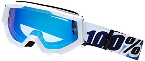 100% Strata Goggles - Mirrored Lens (ICE AGE/BLUE LENS)