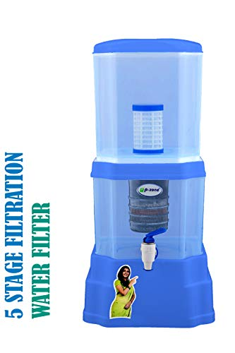 P-ZONE Aquagem Mineral Pot Gravity Based Water Filter (12 Litre, Non-Electric)