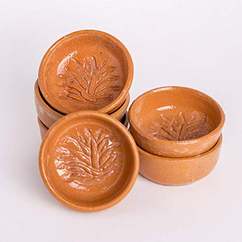 Hand-Crafted Traditional Terra Cotta Mezcal Copitas, 1.75oz, Set of 6