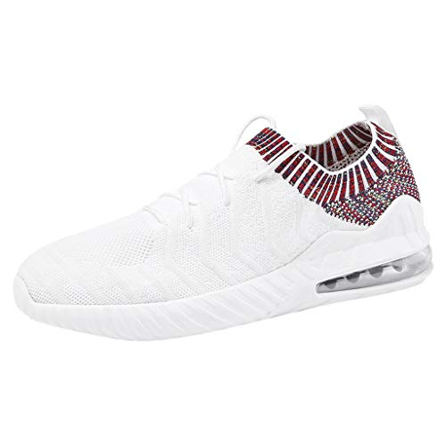 SHINEHUA Sneakers dames sportschoenen loopschoenen comfortabele turnschoenen Air lichte hoogte verhoog mesh Socks Slip On Outdoor Walking schoenen sportschoenen zwart rood wit 39-44