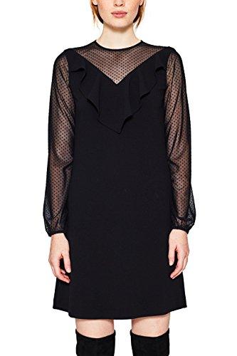 edc by ESPRIT Damen 117CC1E024 Kleid, Schwarz (Black 001), 36