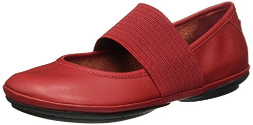 CAMPER Damen Right Nina Geschlossene Ballerinas, Rot (Medium Red 610), 37 EU