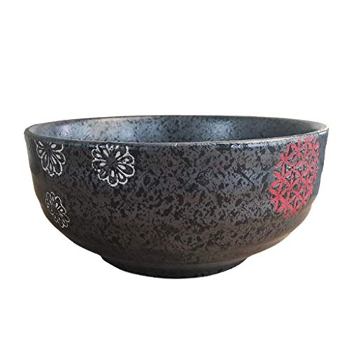 Large Mixing Bowls Ceramic Tableware Retro Home Restaurant Fruit And Vegetable Salad Tray Mixing Bowl 18×8.5cm bowl