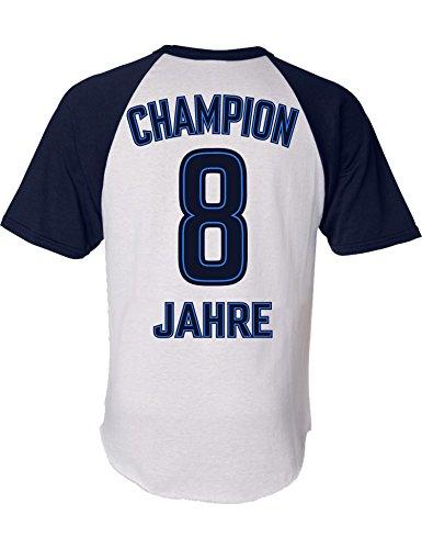 Geburtstags Shirt: Champion 8 Jahre - Sport Fussball Trikot Junge T-Shirt für Jungen - Geschenk-Idee zum 8. Geburtstag - Acht-TER Jahrgang 2012 - Fußball Club Fan Stadion Mannschaft (128)
