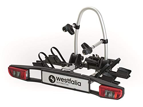Portabicicletas Westfalia BC 60 (Version 2018) | Portabicicletas plegable para 2 bicicletas |Compatible con bicicletas eléctricas | Capacidad máxima de 60 kg | Accesorios adicionales disponibles