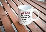 Tasse Lächle Du kannst sie nicht alle töten – mit Spruch – lustig – Büro/Arbeit - 3