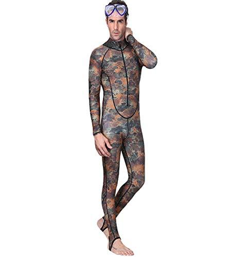 SCYDAO Ganzkörper-Badeanzug Für Frauen Männer Paar Modelle Mit Kapuze Design UV-Schutz Dive Wetsuit Für Männer Frauen, Sport Skin Lycra Tauchen Schnorchel,Men Style a,XXL