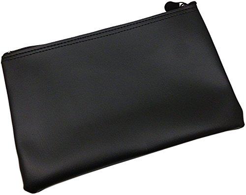 XXL Portafoglio per banca in nero o bordeaux (Nero)
